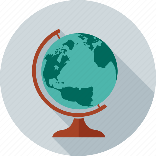earth, global, map, navigation, student, study, world icon