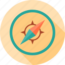 arrow, compass, location, navigation, school, study icon