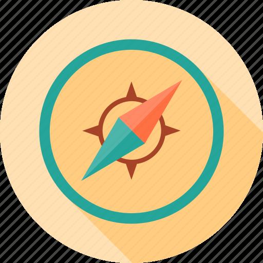 arrow, compass, location, navigation, school, study icon