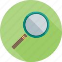 magnifying glass, search, student, study, user icon