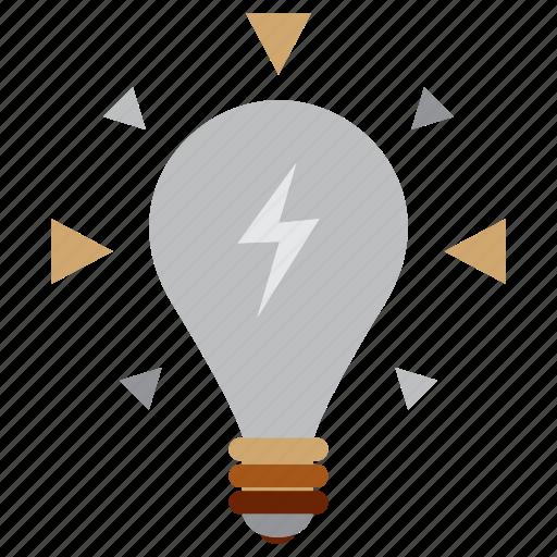 idea, lamp, light, study icon