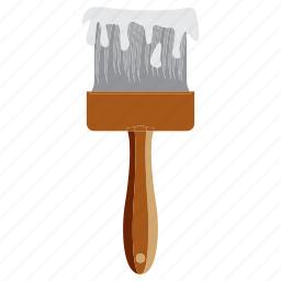 brush, color, education, paint, study icon