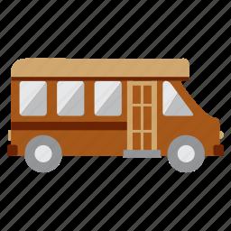 bus, car, education, study icon