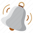 bell, in, out, study icon