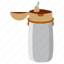 bottle, brake, drink, study icon