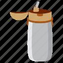 bottle, brake, drink, study icon