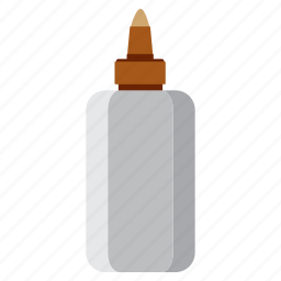 bottle, education, glue, study icon
