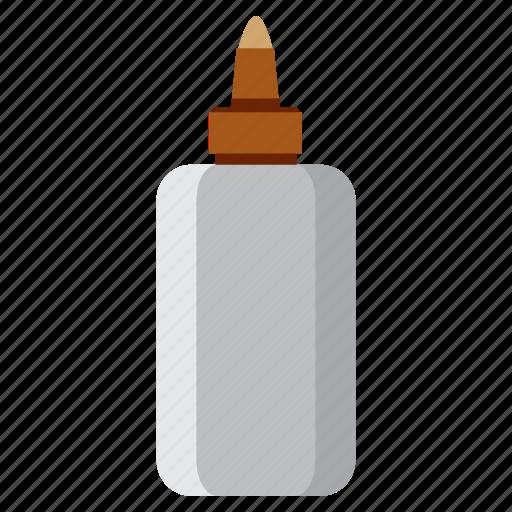 bottle, education, glue, study icon