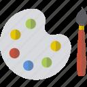 accessories, colors, design, paint, palette icon