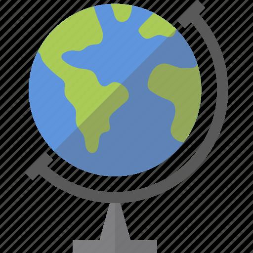 accessories, earth, globe icon