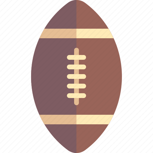 accessories, american, ball, football, rugby icon
