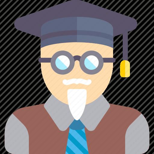 man, person, professor, student, teacher, user icon