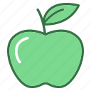apple, education, fruit, study, sweet icon