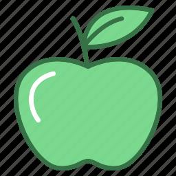 apple, education, fruit, study, sweet icon