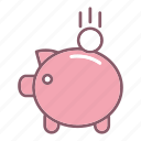 education, finance, piggy, study icon