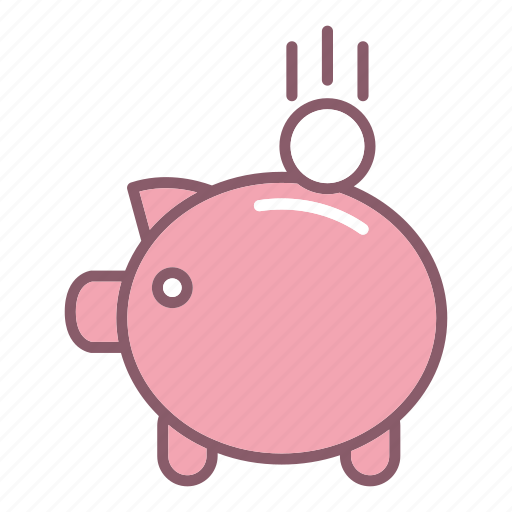 education, finance, piggy, study icon