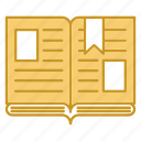 book, education, open, study icon