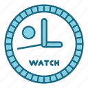 education, study, timer, watch icon