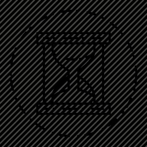 clock, hourglass, loading, sandglass, timer icon
