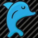aquatic animal, creature, dolphin, marine animal, underwater animal icon