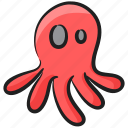 aquatic animal, cephalopoda, marine animal, octopus, polypus, sea creature icon