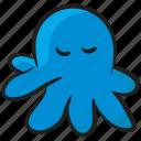 aquatic animal, cephalopoda, marine animal, polypus, sea creature, sea octopus icon