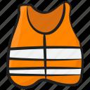 life preserver, life vest, lifebuoy, lifejacket, lifesaver, reflective vest icon