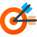archer, arrows, bow, sport, target icon icon