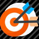 archer, arrows, bow, sport, target icon icon