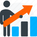 businessman user icon, financial growth, graph, growth, promotion icon