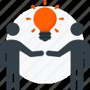 brainstorm, business, idea, man, power, team, teamwork icon icon