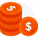 cash, coin, currency coin, dollar, dollar coin, money icon, payment icon