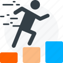 business success, businessman success, graph, growth, growthuser icon, promotion icon