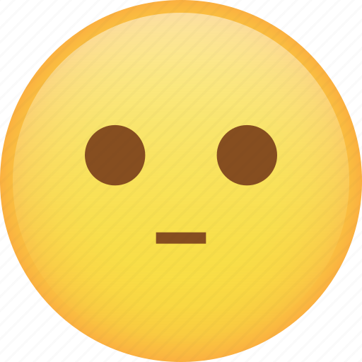 disappointed, emoji, emoticon, flat face, ok, smiley icon