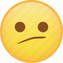 disappointed, emoji, emoticon, sad, smiley, smirk icon