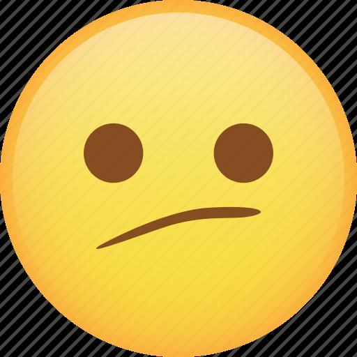 disappointed, emoji, emoticon, sad, smiley, smirk icon
