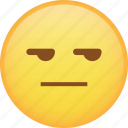 disappointed, emoji, emoticon, envy, smiley, smirk icon