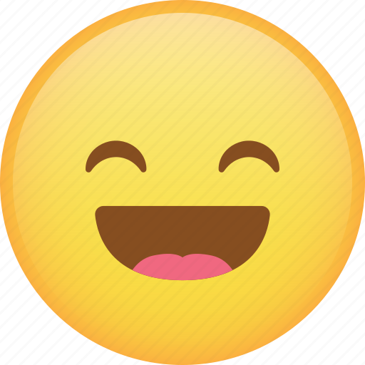 emoji, emoticon, happy, laugh, smiley icon