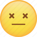 dead, death, die, emoji, emoticon, smiley icon