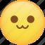 cat, cat mouth, emoji, emoticon, smiley, uwu icon