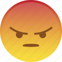 angry, emoji, emoticon, mad, rage, react, smiley icon