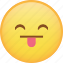 emoji, emoticon, happy, smile, smiley, tongue icon