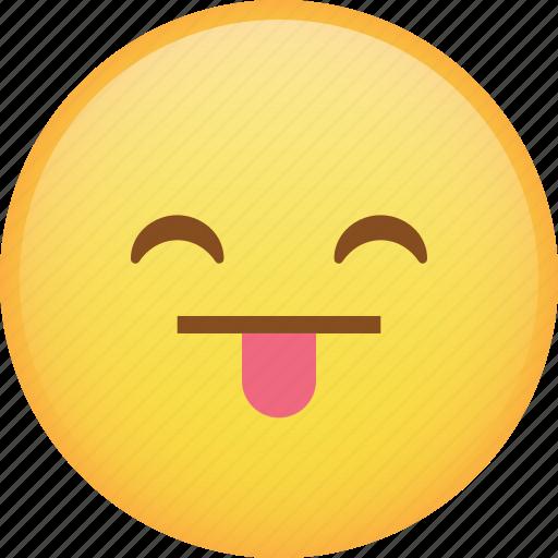 emoji, emoticon, happy, smile, smiley, tongue icon