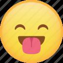 emoji, emoticon, happy, laugh, smiley, tongue