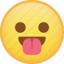 emoji, emoticon, happy, smiley, taught, tongue icon