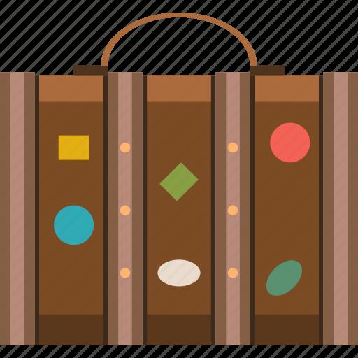 luggage, suitcase, tourist, travel, vacation icon