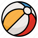 ball, beach, sea, summer icon