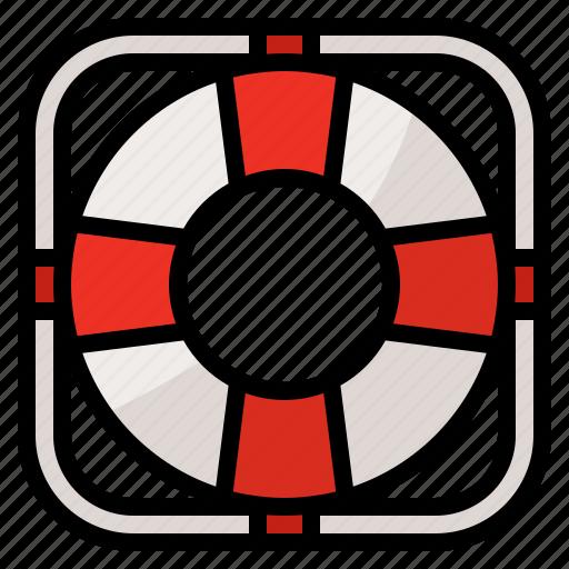 floating, lifeguard, lifesaver, safety icon