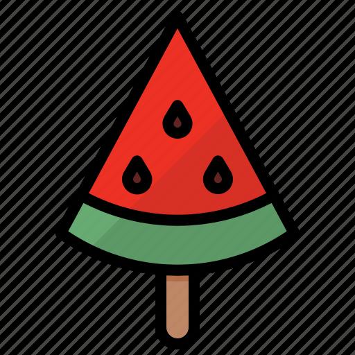 fresh, fruit, summer, watermelon icon