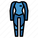 scuba, summer, surfing, wetsuit icon